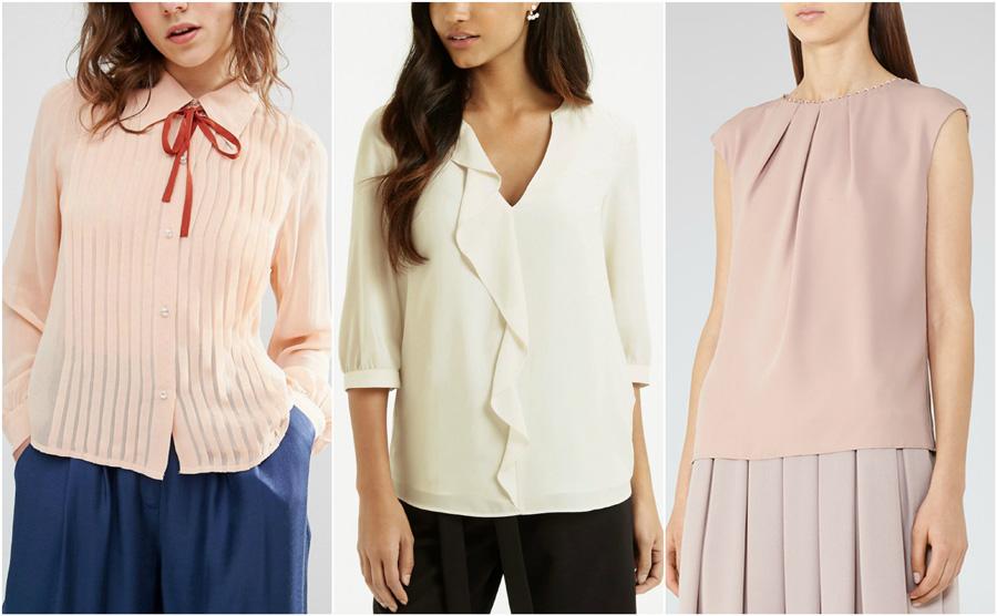 House Party Wear Blouse Shirt Fashion Formal Ruffle Pleat