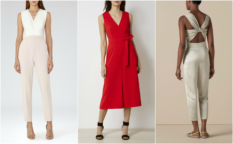 House Party Wear Jumpsuit Fashion Formal Red Twist