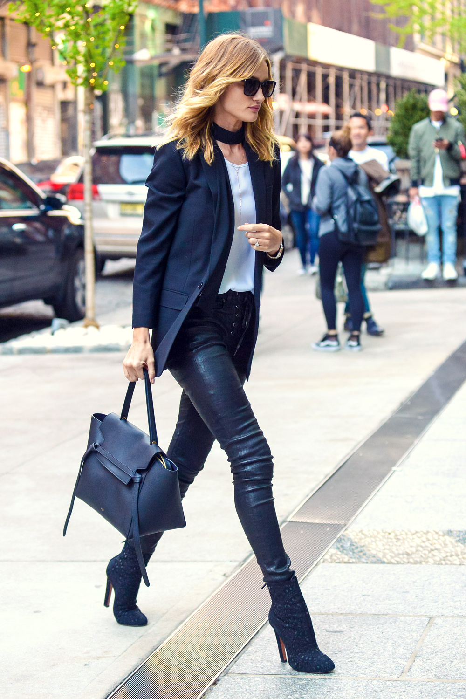RHW Rosie Huntington-Whitely leather celebrities style