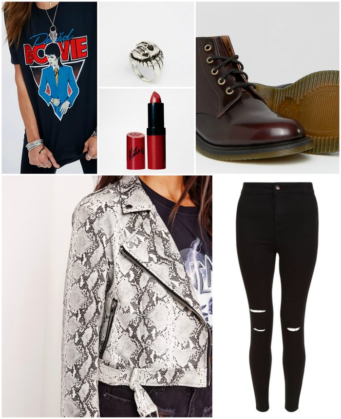 Womens Outfit Grid - What to wear to a Rock Concert outfit suggestion