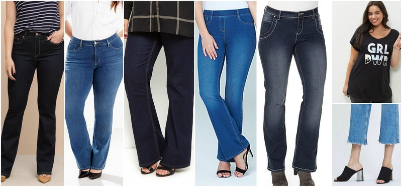 Curvy Women Jeans Bootleg